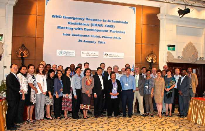 ERAR staff members with donor partners in Phnom Penh.